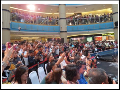 The crowd at Sunway Pyramid