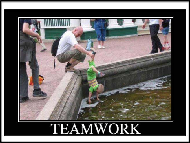 Teamwork kind of fishing...