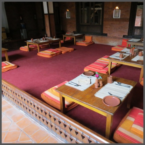One of the dining area with the option of traditional seating