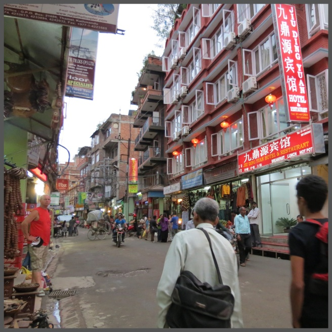 The streets of Thamel