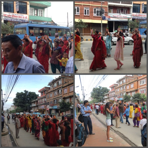 We weren't sure what the procession was about, but it was the last experience of Nepal before indulging in the Spa.