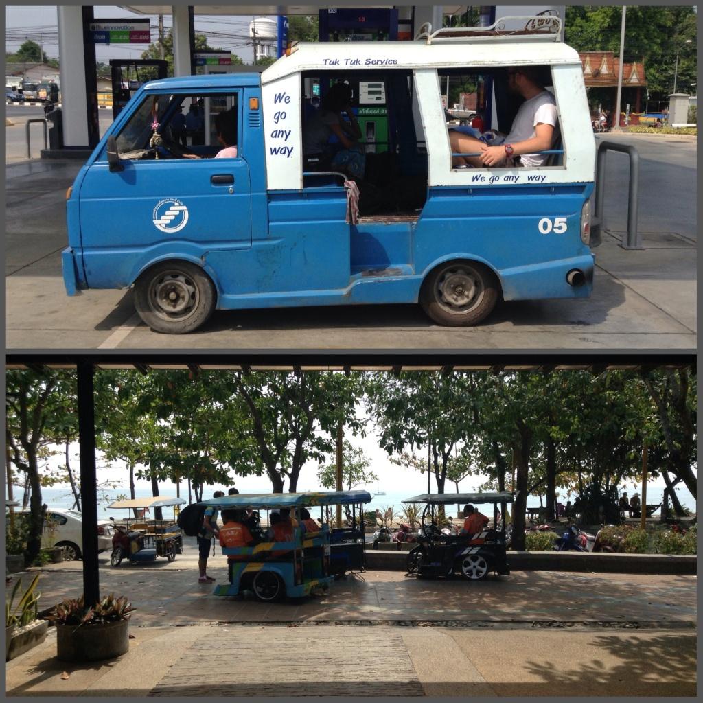 The tuktuk to Ao Nang