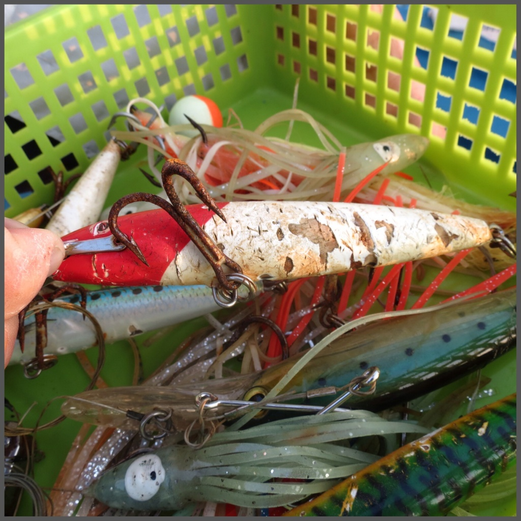 All rods and lures are included in the fishing package. Look at the potential of the sea from the damage already done!