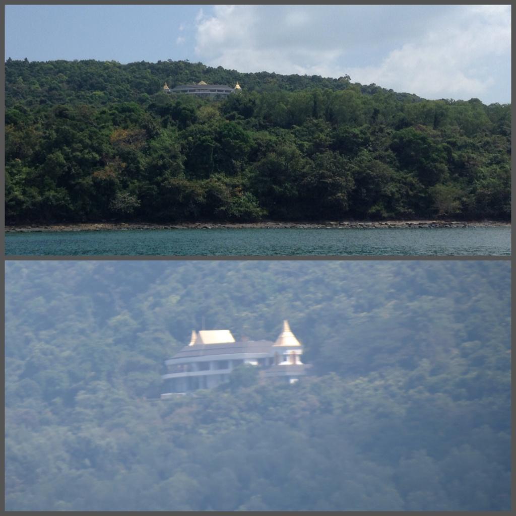 The lucky location. Laem Hang Nak Palace