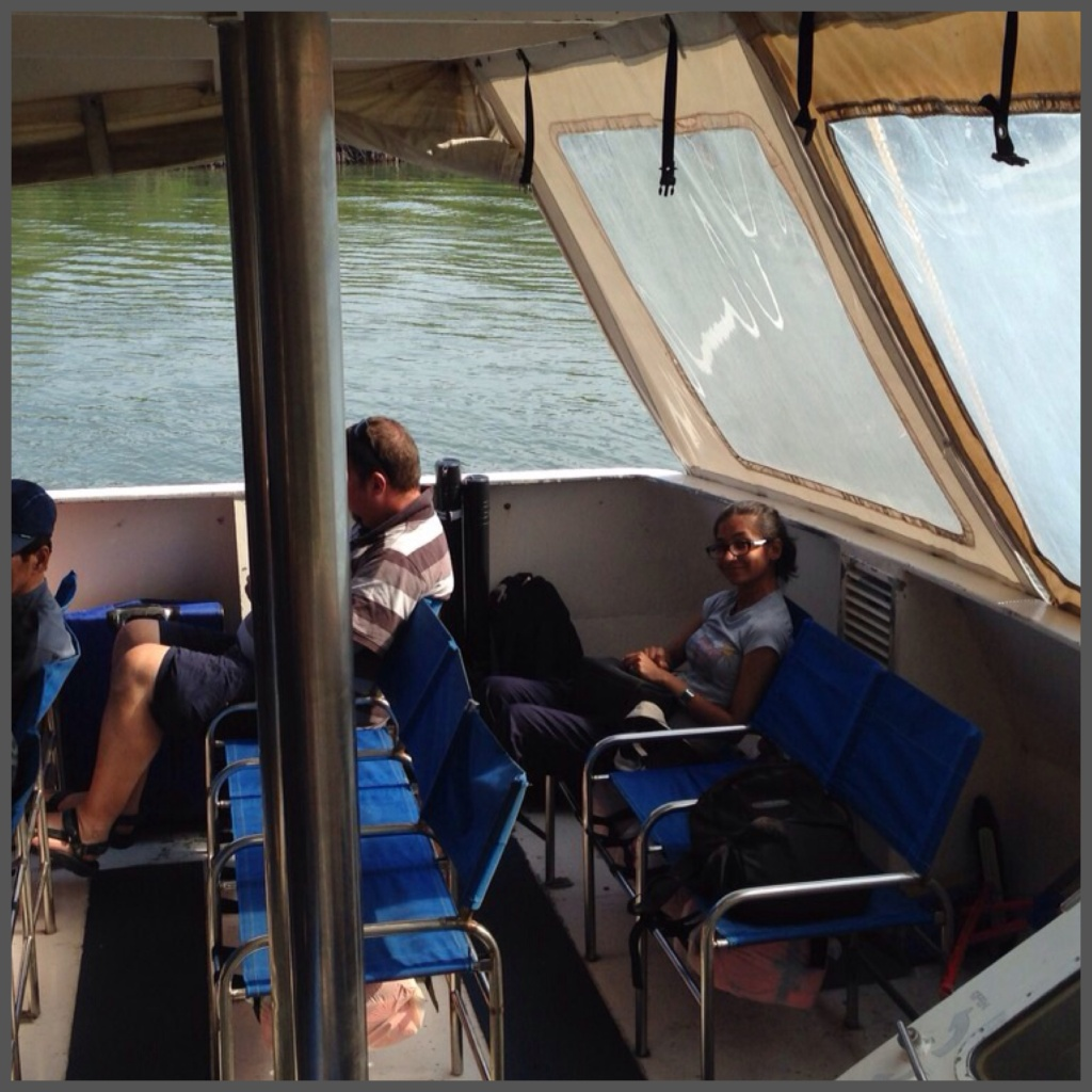 As the ferry was not full on our return, we managed the same seats at the back as when we got to Batam.
