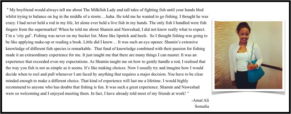 Testimonial themilkfishlady