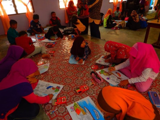 Colouring competition for the children