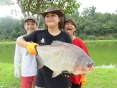 Saujana D'Rimba, Pacu, a team effort, caught and released safely